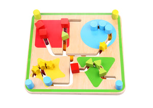 Wooden Reversible Maze - Tooky Toy
