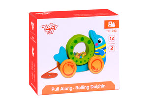 Wooden Pull-Along Dolphin - Tooky Toy