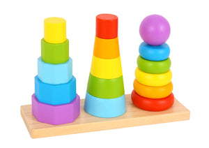Wooden Shape Stacker - Tooky Toy