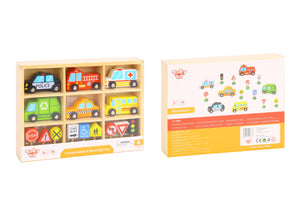 Transportation & Wooden Street Sign Set - Tooky Toy