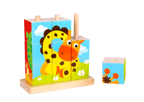 Animal Stacking Puzzle - Tooky Toy