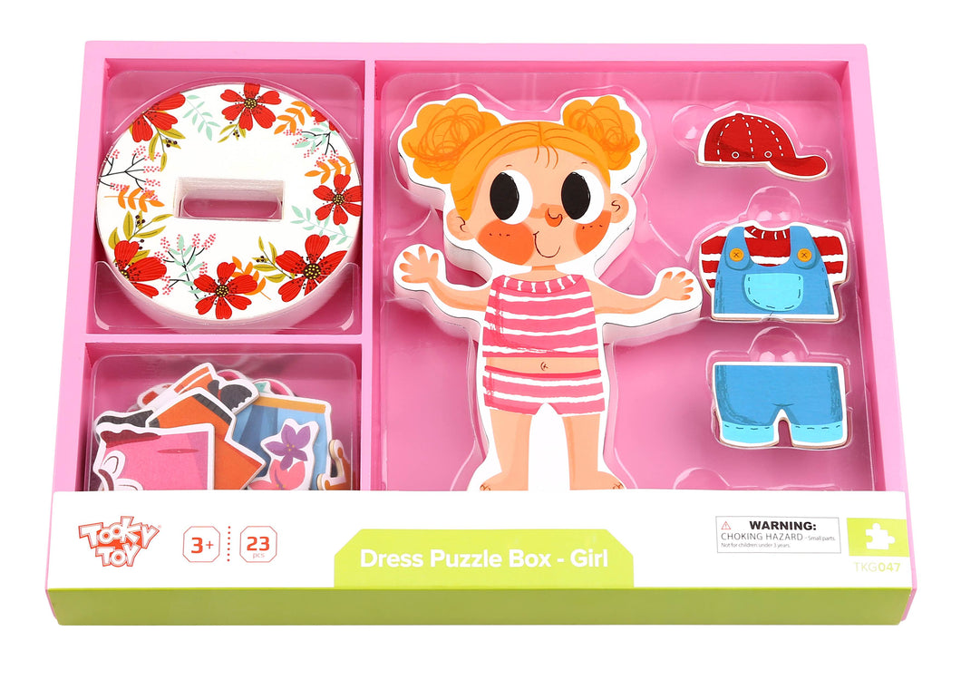 Magnetic Dress up - Girl - Tooky Toy