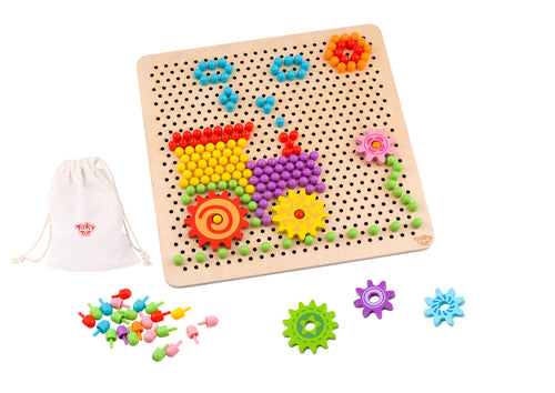 Pattern Pegs - Big - Tooky Toy