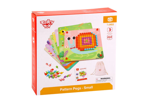 Pattern Pegs- Small - Tooky Toy