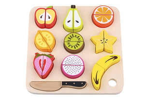 Wooden Fruit Cutting - Tooky Toy