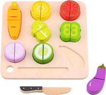 Load image into Gallery viewer, Wooden Vegetable Cutting - Tooky Toy