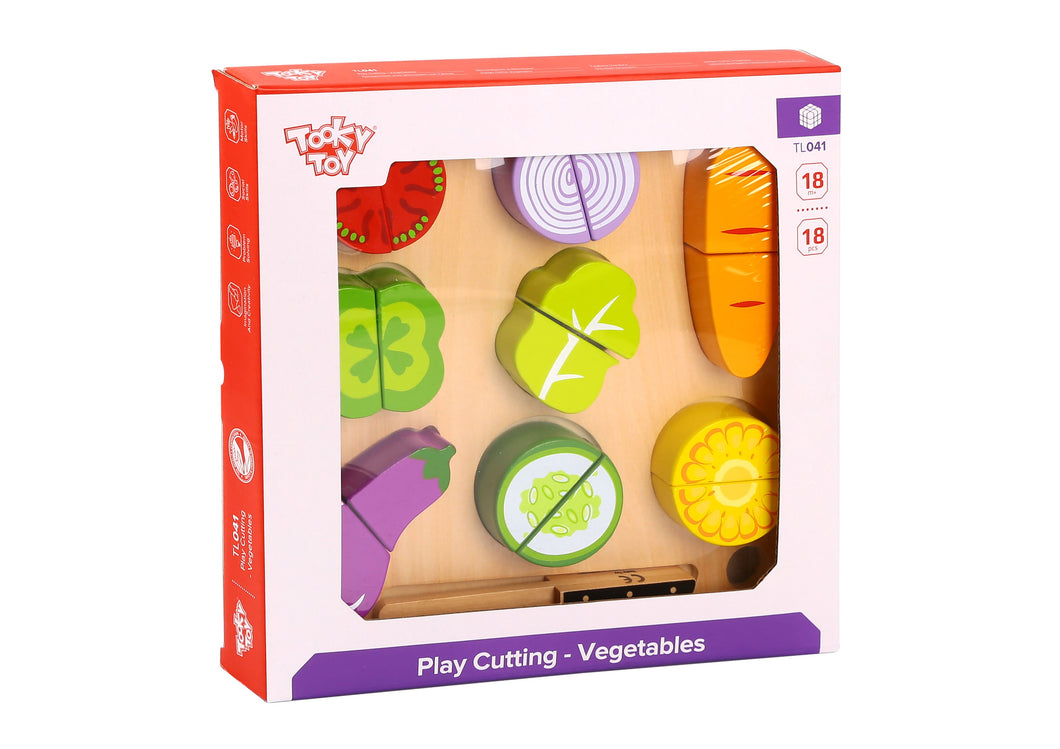 Wooden Vegetable Cutting - Tooky Toy