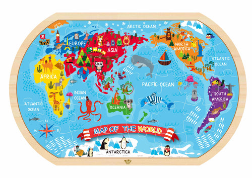 World Map Puzzle - Tooky Toy