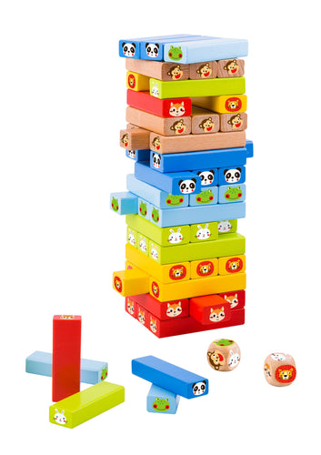 Animal Jenga Game - 80 pc - Tooky Toy