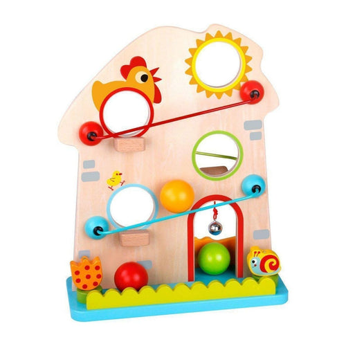 Wooden Ball Track Farm - Tooky Toy
