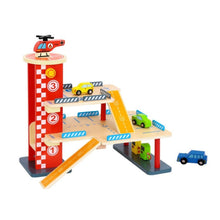 Load image into Gallery viewer, Wooden Parking Garage - Tooky Toy - New Design