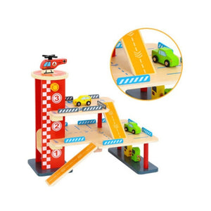 Wooden Parking Garage - Tooky Toy - New Design