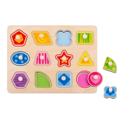 Shapes Peg Puzzle - Tooky Toy
