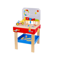 Load image into Gallery viewer, Large Wooden Work Bench - Tooky Toy