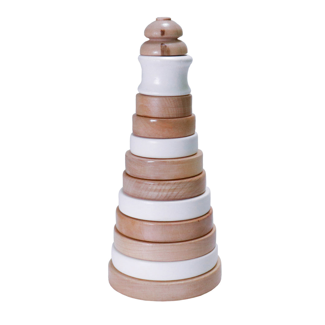 Copy of Wooden Stacker (White)
