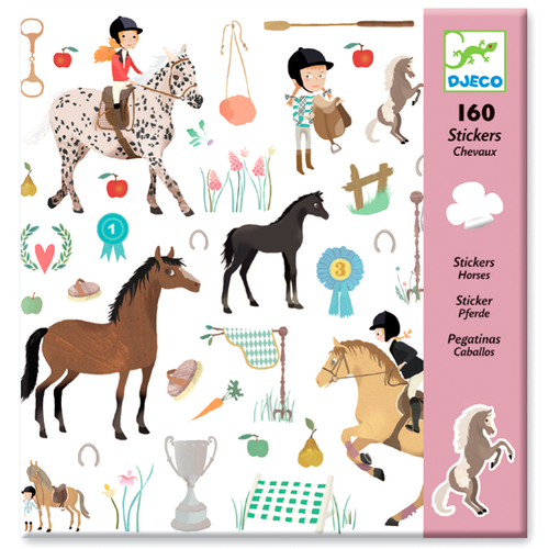 Horse Stickers (160 pc) - Djeco