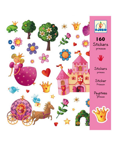 Princess Marguerite Stickers (160 pc) - Djeco