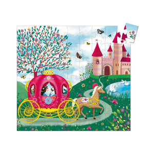 Elise's Carriage Silhouette Puzzle - Djeco - 54 pc