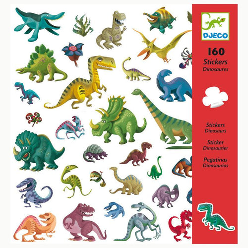 Dinosaur Stickers (160 pc) - Djeco
