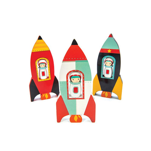 Wooden Space Rocket - Assorted Colours  - Le Toy Van
