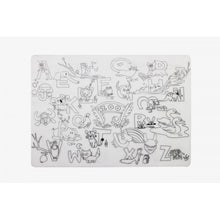 Load image into Gallery viewer, Reusable Silicone Colouring Placemat - Alphabet Animals - Mombella