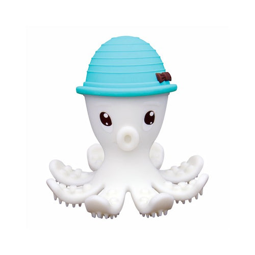 Octopus Doo Teether Toy - Mombella - Powder Blue