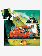 Load image into Gallery viewer, Fire Truck Silhouette Puzzle - Djeco - 16 pc