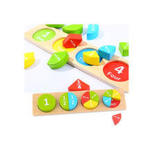 Load image into Gallery viewer, Wooden Fraction Set - Tooky Toy