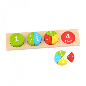 Wooden Fraction Set - Tooky Toy