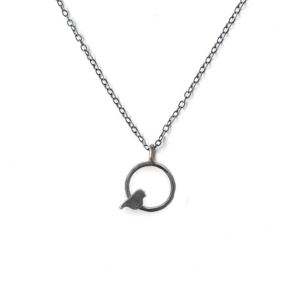 Circle Bird Necklace