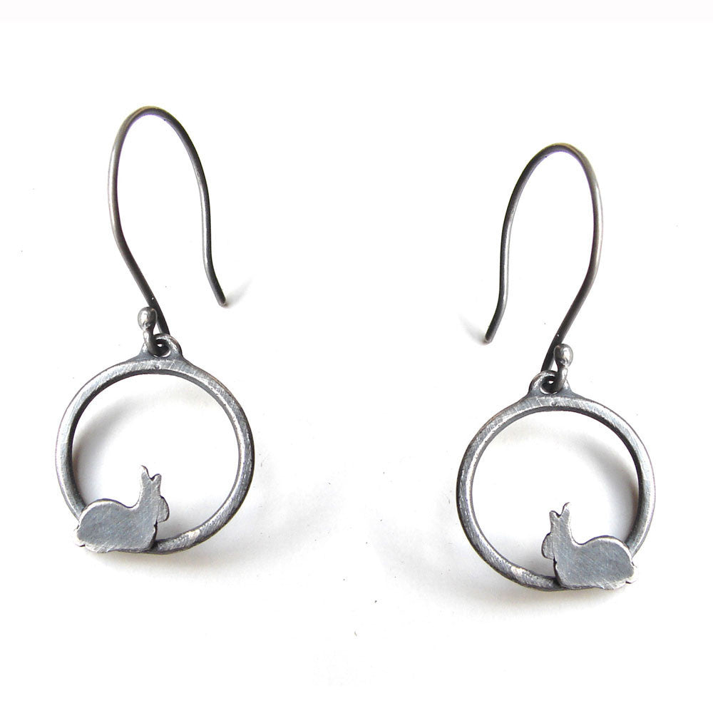 Circle Bunny Earrings