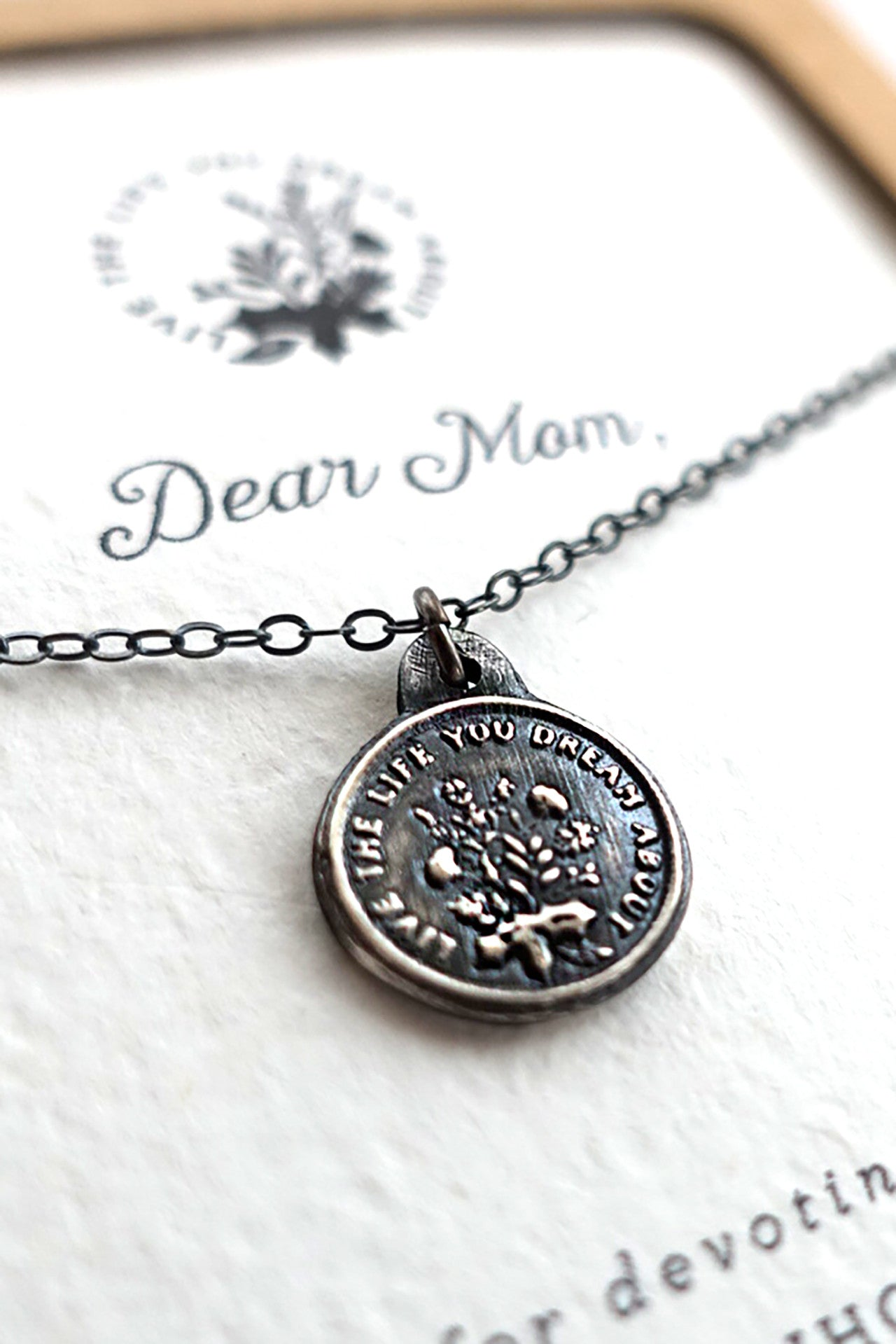 live for mom necklace you jewellery dear the ch life perfect products gift mothers jewelry ltlyd dream