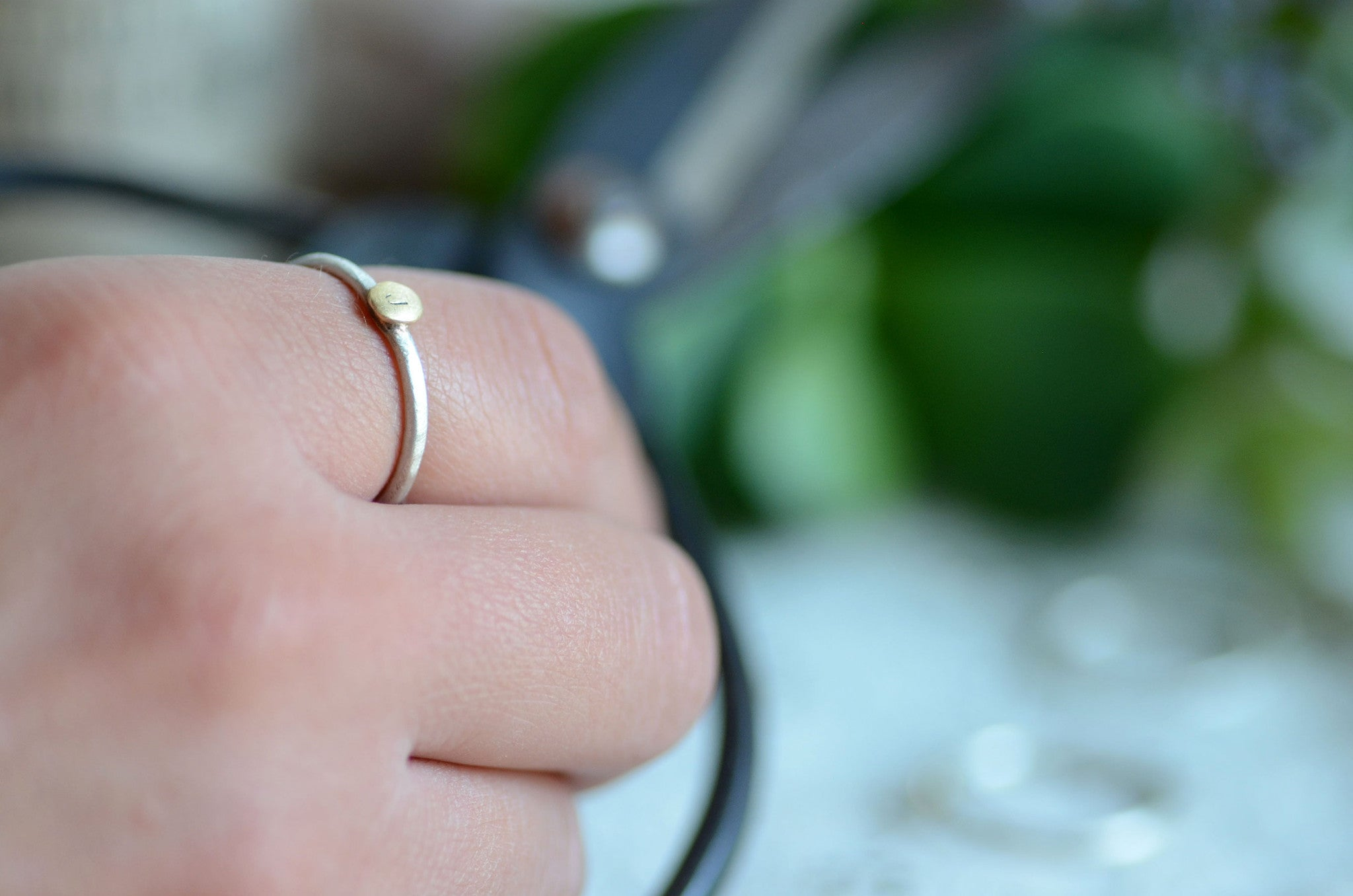 Sterling and Gold Stacking Initial Rings *Discounts for multiples!*