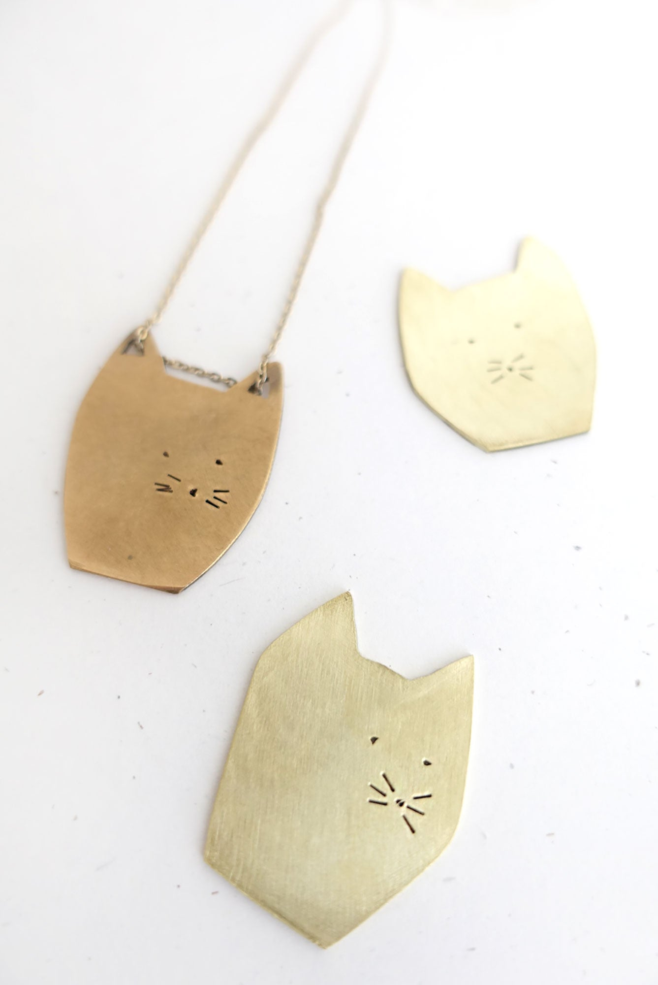 Cat Head Necklace