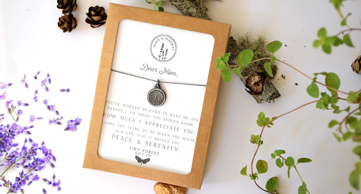 Dear Mom: I Appreciate You - Lavender Herbal Peace & Serenity Necklace