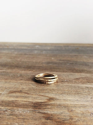 Single 18K Yellow Stacking Rings