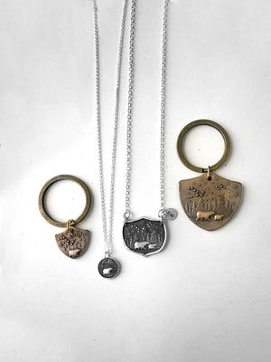 Mama Bear and Baby Bear Necklace Set