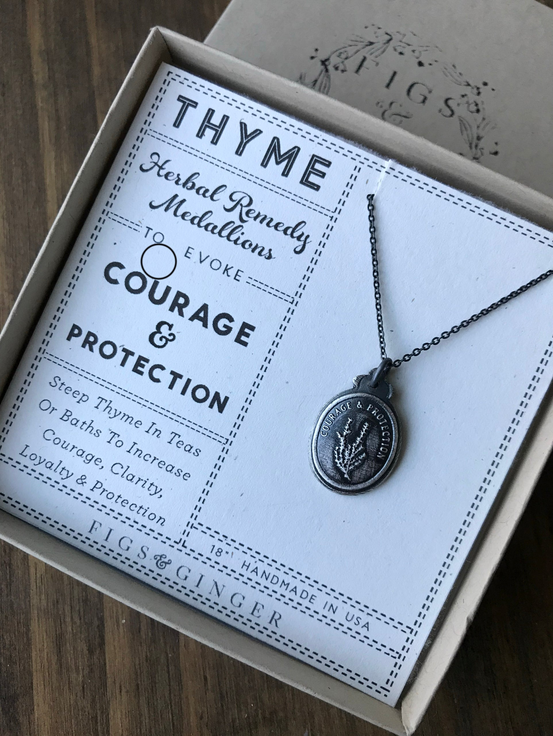 Thyme Herbal Remedy Medallions