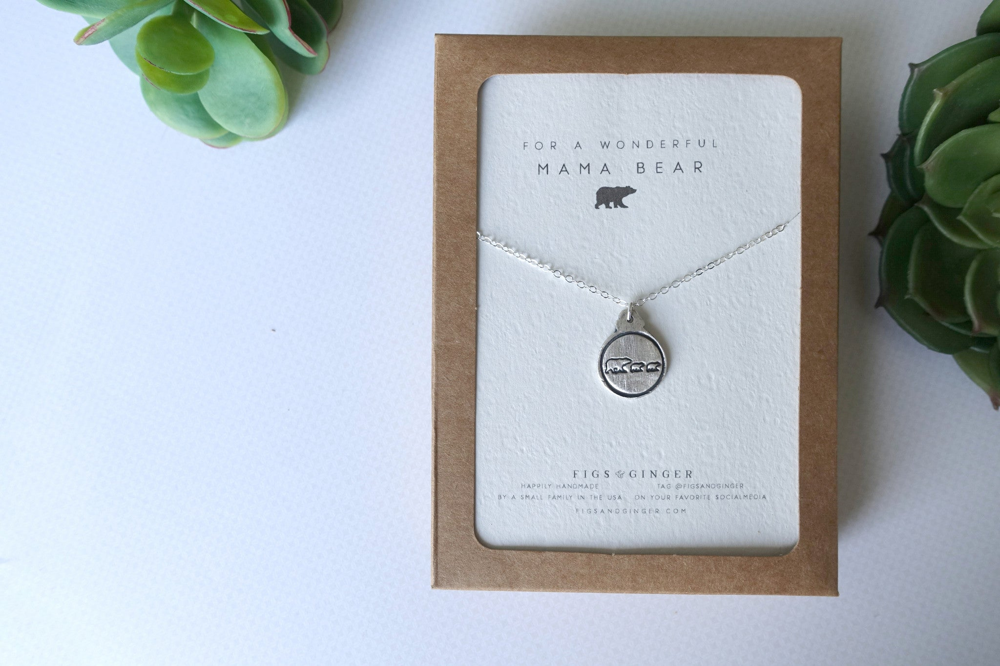 Mama Bear & 2 Bear Cubs Charm Necklace