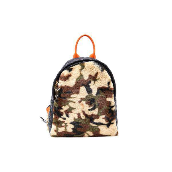 LIKE DREAMS Red Light Furry Camo Capsule Backpack - shoplikedreams