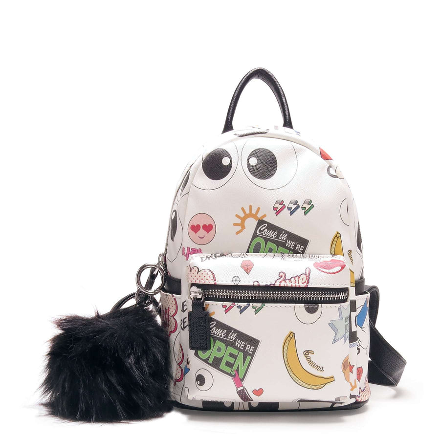Emoji Capsule Graffiti Backpack