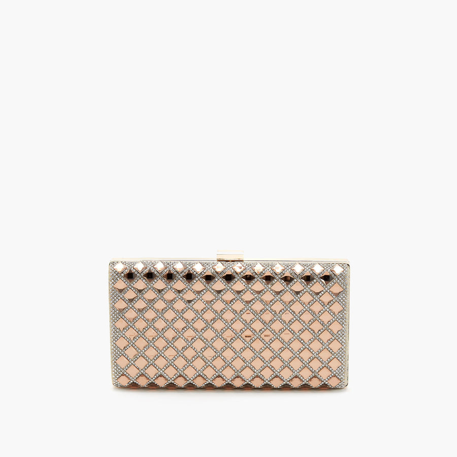 LIKE DREAMS Targareyan Foil Box Clutch