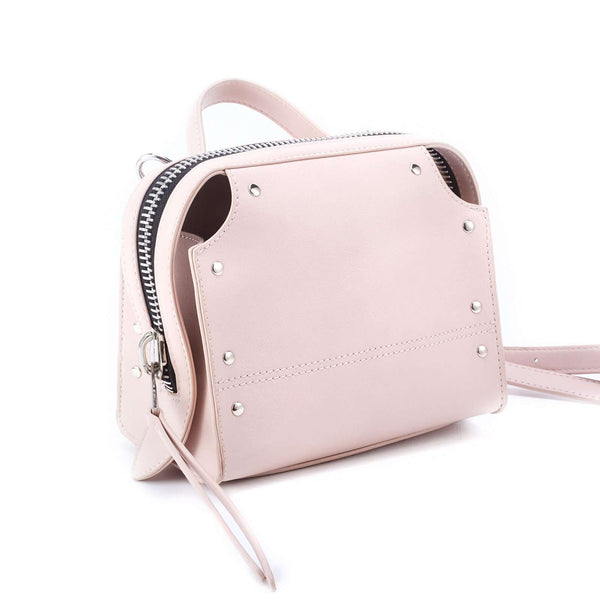 LIKE DREAMS Studded Silhouette Top Handle Crossbody