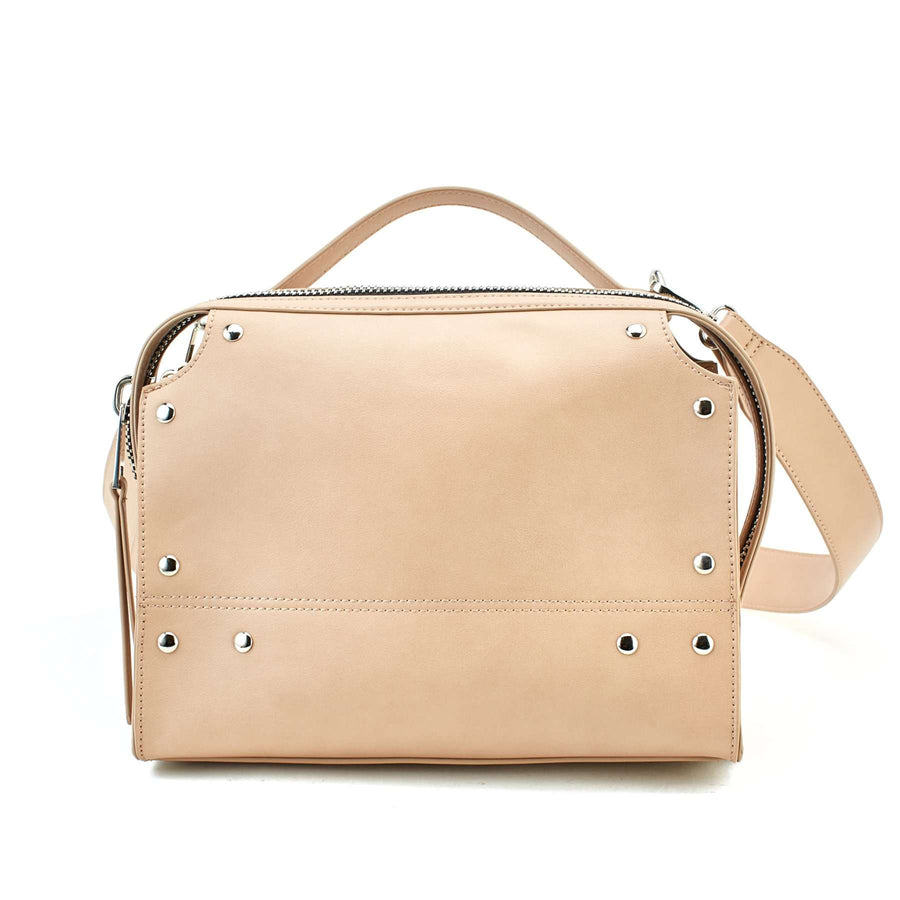LIKE DREAMS Studded Silhouette Top Handle Satchel