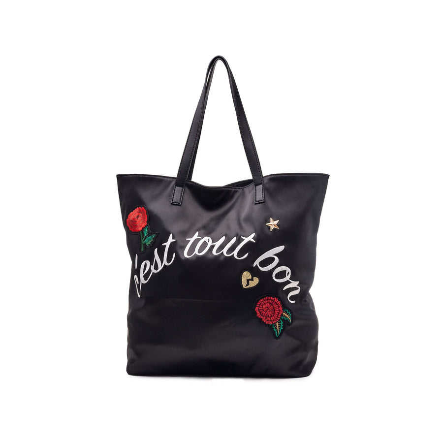 LIKE DREAMS Reversible Embroidered Nylon Tote