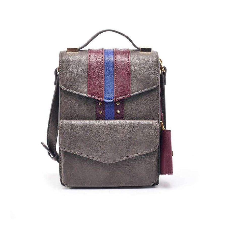 LIKE DREAMS Striped Messenger Bag