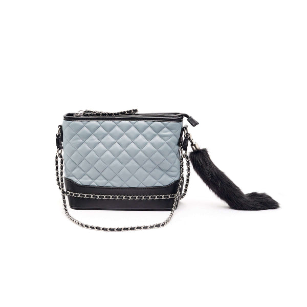 LIKE DREAMS Quilted Foxtail Shoulder Bag
