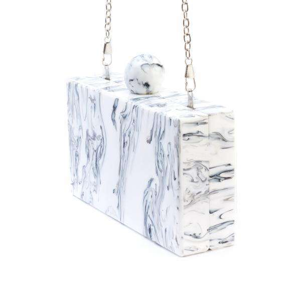 LIKE DREAMS Valyn Marble Knob Evening Clutch - shoplikedreams