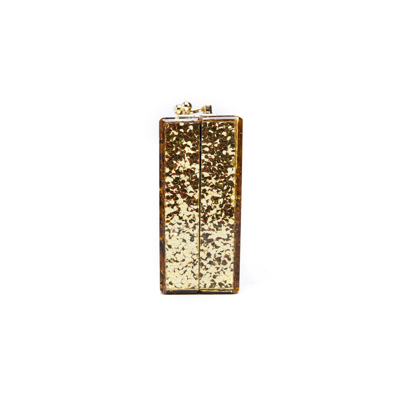 LIKE DREAMS Ginger Gold Glitter Evening Clutch - shoplikedreams
