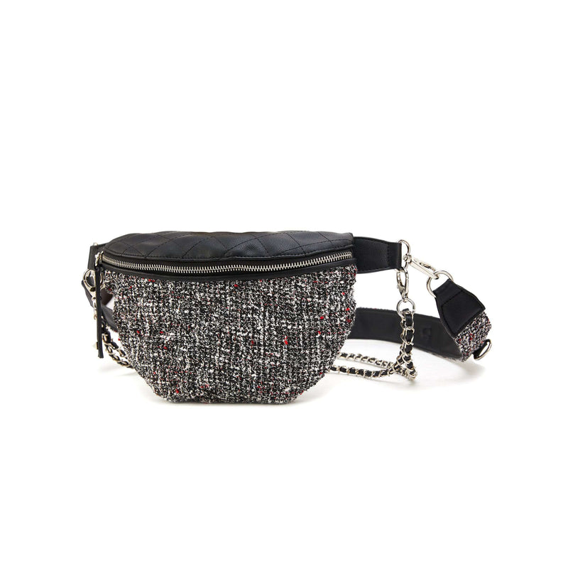 LIKE DREAMS Quilted Boucle Fanny Pack